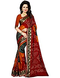 Macube Women's Bhagalpuri Silk Saree With Blouse Piece (Ms761_22,Multicolor,Free Size)