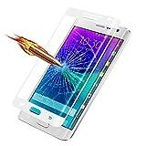 Tonsee Volle Deckung gehärtetes Glas Schutzfolie für Samsung Galaxy Note Edge (weiß)