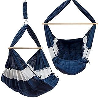 DuneDesign Hamaca para Bebé 70x36x94cm cuna silla colgante infantil Azul