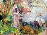 Cuadro Sobre Lienzo 80 x 60 cm: On The Seine River at Argenteuil de Pierre-Auguste Renoir/akg-Images - Cuadro Terminado, Cuadro Sobre Bastidor, lámina terminada Sobre Lienzo auténtico, impresión