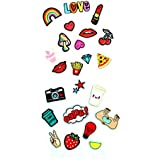 MagiDeal 23 Pieces Mixed Pattern Embroidered Motif Sew Iron on Applique Decorative Patches Badge for Clothes Bag