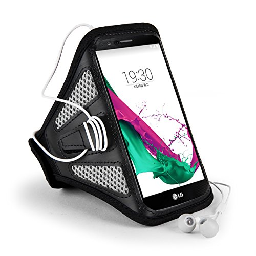Grau/Schwarz Mesh outdoor Running Gym Sport Armband Fall für Samsung Galaxy S8Plus/Note 8/LG Stylus 3/LG G6/Q6/Motorola Moto G5S Plus/E4Plus/Z2Play/BLU Vivo 8/R2/wileyfox Swift 2x/Huawei P10Plus (Verizon Lg Screen Protector)