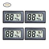 EisEyen - Set di 4 Mini termometri digitali LCD per Frigorifero e Acquario