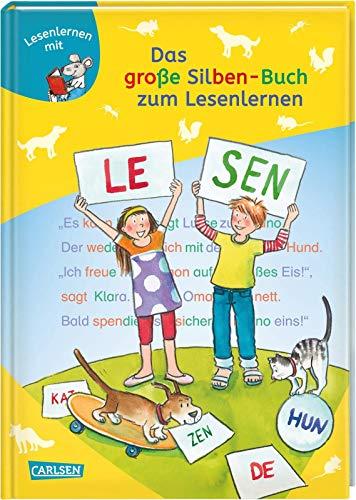 LESEMAUS zum Lesenlernen Sammelbände: Das große Silben-Buch zum Lesenlernen: Extra Lesetraining - Lesetexte mit farbiger Silbenmarkierung