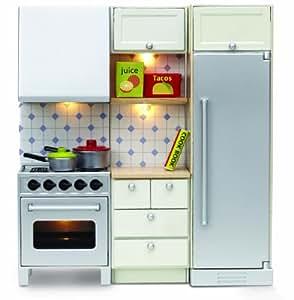 Lundby - L602047 - Maison de Poupée - Ensemble Cuisinière + Réfrigérateur - Smaland