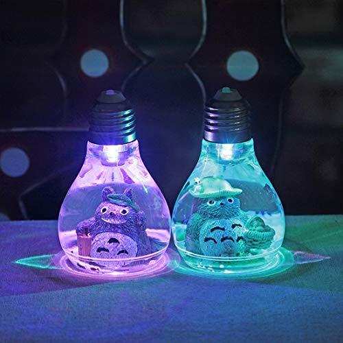 ANxiaokeai Kawaii Bande Dessinée Mon Voisin Totoro Lampe LED Veilleuse Table De Lecture Lampes de Bureau pour Enfants Cadeau Home Decor Nouveauté(2 pièces)