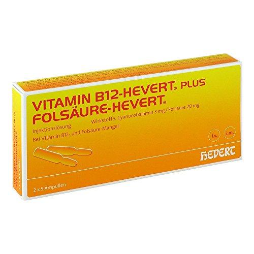 Vitamin B12 Folsäure Hevert Ampullen -paare 5X2 ml