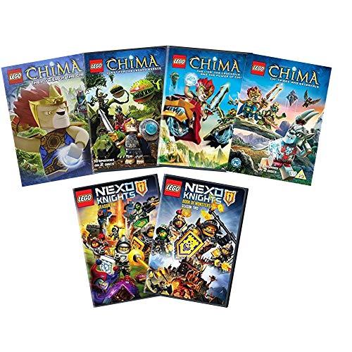 Ultimate Lego Nexo & Chima DVD Collection (Nexus Knights - Season 1 / Nexo Knights - Season 2 / Legends of Chima: Power of Chi / Legends of Chima: Chi, Tribes & Betrayals / Legends of Chima: The Lio