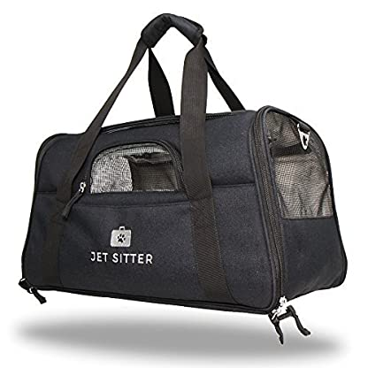 Jet Sitter Super Fly - Airline Approved Pet Carrier Bag Soft Sided Under Seat For Small Dogs Or Cats, Top Loading, TSA… 1