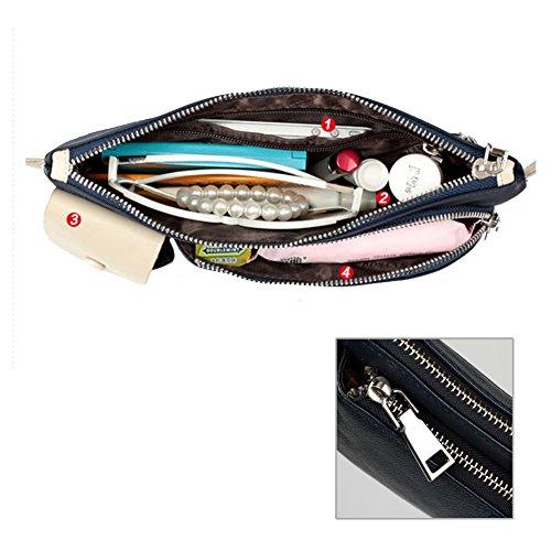 YAAGLE Rindleder Herren koreanisch Freizeit schick Hüfttasche multifuntional outdoor Schultertasche Kuriertasche Brustbeutel-schwarz blau