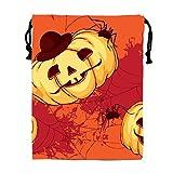 STBESY Schönes Blätter Kordelzug Wasserdicht Partyzubehör Tasche Tasche für Frauen Herren M Halloween pumpkin7