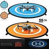iMusk Drone e Quadcopter Landing Pad 22 Pollici (55 cm) RC Aircraft Soft Superficie di Atterraggio in Gomma Impermeabile Ecologica per DJI Mavic Phantom 3 4 SPARK Mavic Pro
