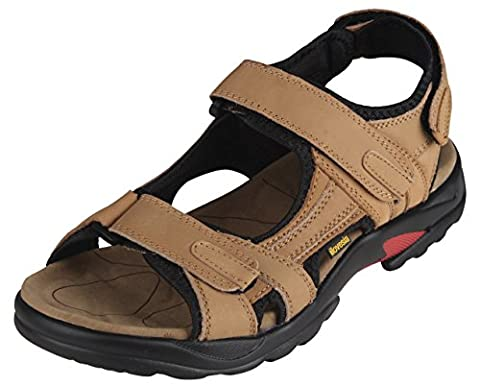 sandales homme 42 sandale hommes Mens Leather Athletic&Outdoor Sandals fauve