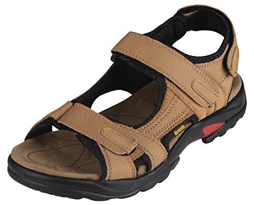 Out Door Sandalen Herren 43 Schuhen Khaki Pantoletten Sandale Sommer,EU Größe 43, Asia Größe 44