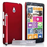 Yousave Accessories Cover per Nokia Lumia 1320 Ibrido Rosso con Stilo