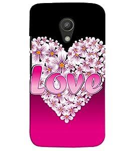 Fuson Love Quotes Case Cover for Motorola Moto G2