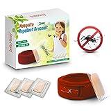Mückenschutz ROTES Armband - All Natural wasserdichte Bekämpfer Armbändchen plus