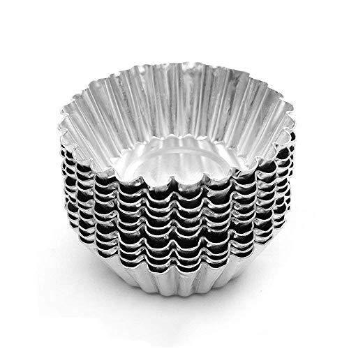 AZX Molde de Paste del Aleación de Aluminio, pequeña Bola de baño Bomba Moldes,Molde para Hornear,Moldes Individuales para Magdalenas (50)