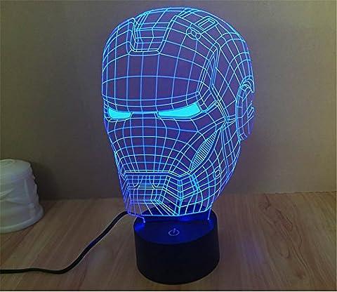 SmartEra® 3D Optical Illusion Iron Man Helmet
