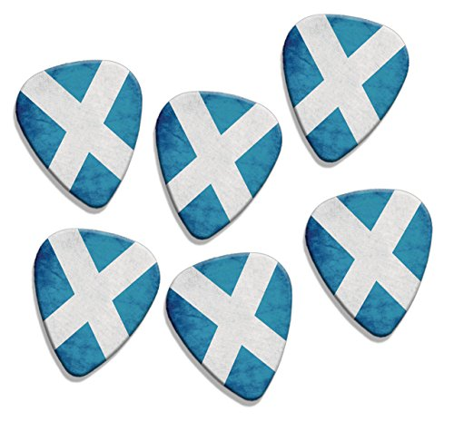 scotland-st-andrews-cross-scotland-grunge-flag-6-x-loose-logo-guitar-picks-gd