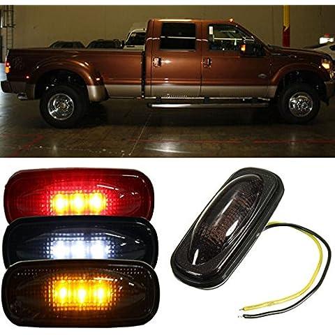 Poseidon Per Ford F350 F450 LED parafango letto luci laterali lampade lente fumo