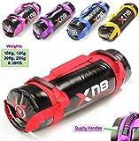 Xn8 Power Bag, gefüllt, Gewichtheben, Fitness, Training, Crossfit Fitness Boxen MMA Schwarz / Rot 10 kg
