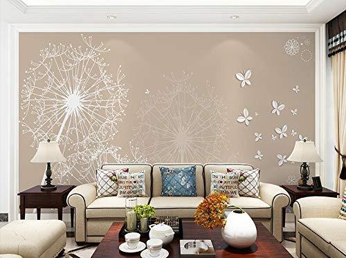Moderne Einfachheit Wortspiel Gu Ying Wandbilder, Wohnzimmer TV Hintergrundbild 3D Videowand Tapete nahtloses Wandtuch, 250 × 175 cm