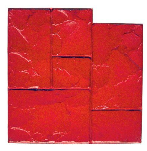 bonway-12-875-24-x-24-inch-ashlar-cut-stone-urethane-floppy-mat-for-decorative-concrete-red