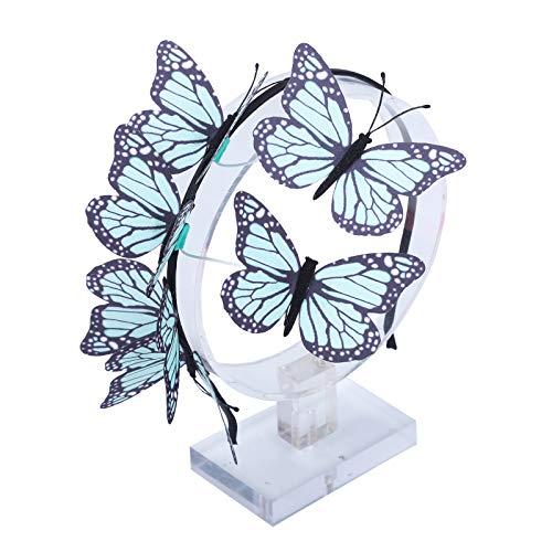 AWAYTR Schmetterlings Stirnband für Damen Mädchen Schmetterlings Haarband Fee Kostüm Kopfschmuck Party Festival schickes Fee Stirnband (Hellgrün)