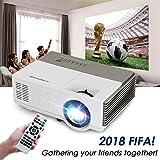 LCD Mini Projecteur 1500 Lumen avec HDMI USB VGA Aux Audio Soutien 1080P 720P Home Cinéma Vidéo Gaming Projecteurs pour TV Mobile Téléphone PC DVD Apple TV