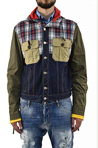 Dsquared2 Uomo GIUBBOTTO Nuovo Jeans e Tessuto - Taglia: 52