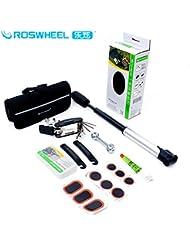 asmaza (TM) 21040bicicleta combinación Kit de reparación de herramientas de reparación de bicicleta de montaña Tire inflationists 650