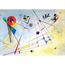 Cuadro sobre lienzo 100 x 70 cm: composition VII de Wassily Kandinsky - cuadro terminado, cuadro sobre bastidor, lámina terminada sobre lienzo auténtico, impresión en lienzo