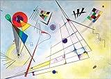 Posterlounge Leinwandbild 100 x 70 cm: Komposition VII von Wassily Kandinsky - fertiges Wandbild, Bild auf Keilrahmen, Fertigbild auf echter Leinwand, Leinwanddruck
