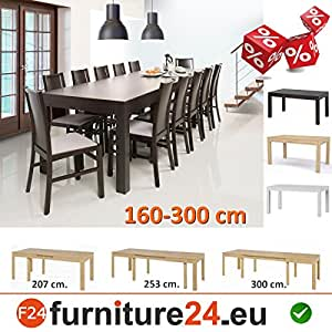 Wenus table de salle manger extensible de 300 cm for Table salle manger extensible 300 cm
