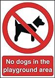 Segni ed etichette AMZPR029A5ARP A5senza spazio per cani nel parco giochi divieto Safety Sign, 1.2mm, adesivi rigidi in polipropilene, 210mm Lunghezza x 148mm larghezza