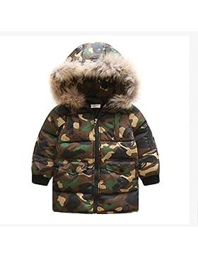 Fuibo Baby Kleidung, Mode Kinder Camouflage Mantel Jungen Mädchen Dicken Mantel Padded Winter Jacke Kleidung
