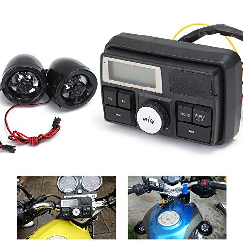 Stereo-system Scooter (Alamor Motorradlenker Audio System USB SD FM Radio Stereo Verstärker Speaker MP3)