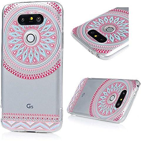 LG G5 Funda Cubierta - Lanveni Chic Carcasa Suave Flexible TPU Gel Silicona ultra delgado para LG G5 Protective Case Cover - Patrón Flor Totem Diseño