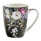 Maxwell & Williams WK01400 Kilburn Becher, Kaffeebecher, Tasse, Midnight Blossom, in Geschenkbox, Porzellan