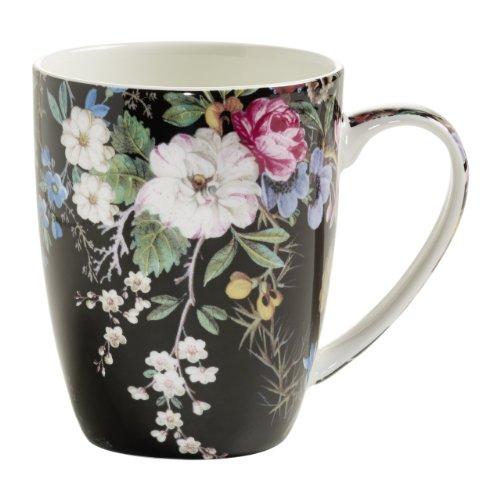 WK01400 Kilburn Becher, Kaffeebecher, Tasse, Midnight Blossom, in Geschenkbox, Porzellan