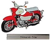 Modell Motorrad 1:24 Simson Star