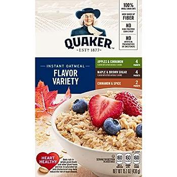 Quaker Flocons d'Avoine Oatmeal Assortiment de Saveurs 430 g