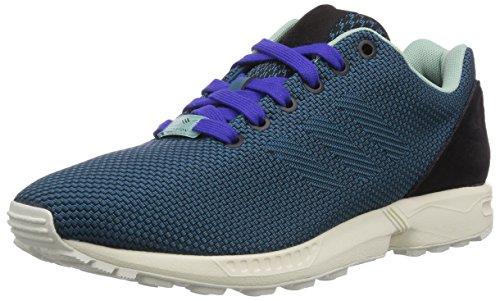 adidas Originals ZX Flux Weave, Unisex-Erwachsene Sneakers Grün (Core Black/Surf Petrol S15-St/Night Flash S15)