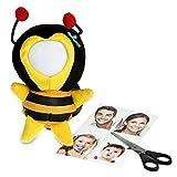 Foto Puppe als Bilderrahmen – Kuscheltier Anhänger mit Gesicht zum Selbstgestalten – Ideal als Geburtstagsgeschenk für Männer und Frauen – origineller Fotorahmen - Sweet Honey
