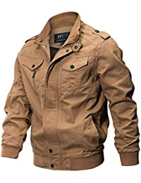 18b8dfa6615 diandianshop Mens Jacket Coat Men s Plus Size Autumn Winter Zipper Long  Sleeve Tactical Military Cargo Jacket