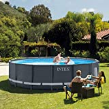 Intex Ultra Rondo Frame Pool Set, 19156 liters, Grau, Durchmesser 488 x 122 cm