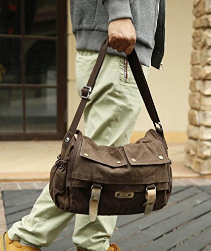 Myll Unisex Retrò Borsa Mailman Casual Shoulder Bag Messenger Brown