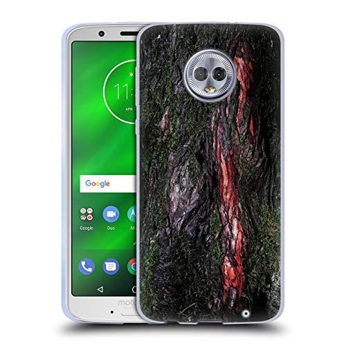 Head Case Designs Offizielle PLdesign Moosige Holz Rinde Holz Und Rost Drucke Soft Gel Hülle für Motorola Moto G6 Plus (Rinde Plus)