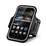 CoverKingz Huawei P10 P10 Plus P10 Lite P9 P9 Plus P9 Lite Mate 9 Sportarmband Fitness Hülle Jogging-Armband Lauf-Tasche Running-Case schwarz (Mate 9)
